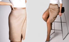 Современные тенденции моды — юбки с запахом
