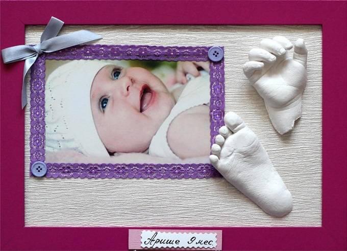 Сохранить память о новорожденном помогут слепки с ручек и ножек малышей купленные в магазине «Ручки&Ножки»