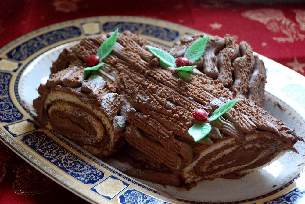 Сладкая выпечка — рождественское полено