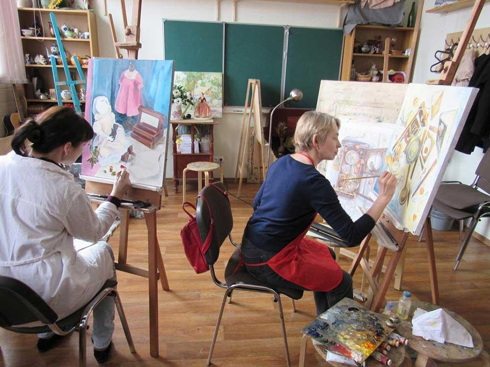 Уроки живописи, масло