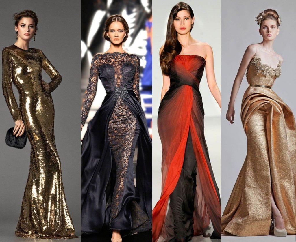 Модные вечерние платья нынешнего года
