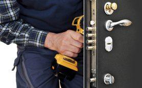 Установка и выполнение ремонта входных металлических дверей
