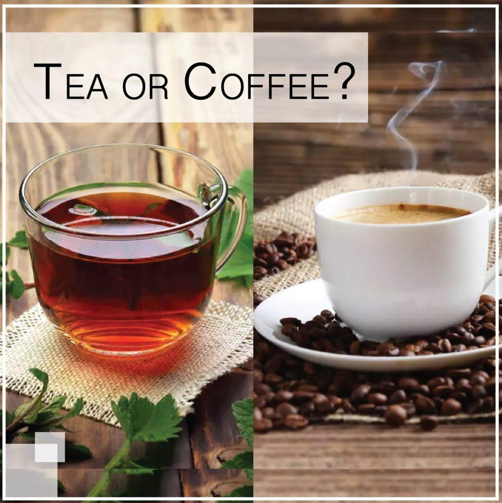 Горячие напитки: чай и кофе